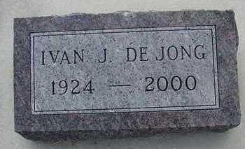 DEJONG, IVAN J. - Sioux County, Iowa | IVAN J. DEJONG