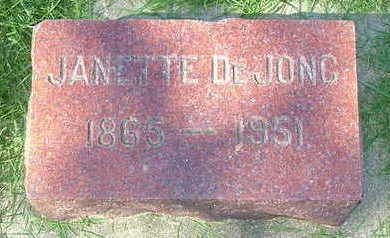 DEJONG, JANETTE - Sioux County, Iowa | JANETTE DEJONG