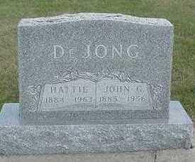 DEJONG, JOHN G. - Sioux County, Iowa | JOHN G. DEJONG