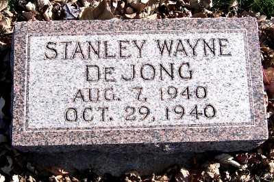 DEJONG, STANLEY WAYNE - Sioux County, Iowa | STANLEY WAYNE DEJONG