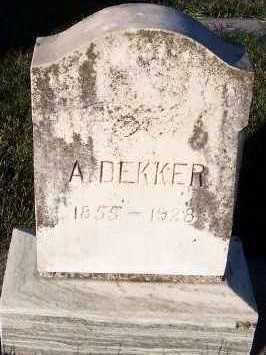 DEKKER, A. ( 1855-1928) - Sioux County, Iowa | A. ( 1855-1928) DEKKER