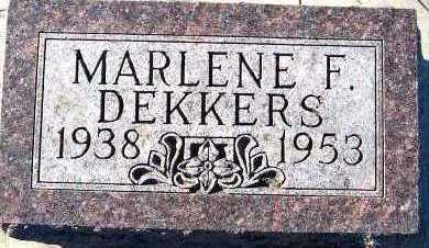 DEKKERS, MARLENE F. - Sioux County, Iowa   MARLENE F. DEKKERS