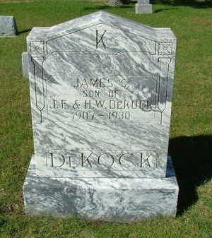 DEKOCK, JAMES S. - Sioux County, Iowa | JAMES S. DEKOCK