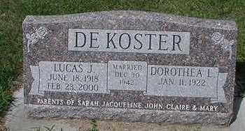 DEKOSTER, LUCAS J. - Sioux County, Iowa | LUCAS J. DEKOSTER
