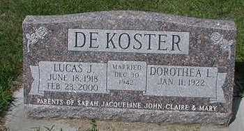 DEKOSTER, DOROTHEA L. - Sioux County, Iowa   DOROTHEA L. DEKOSTER