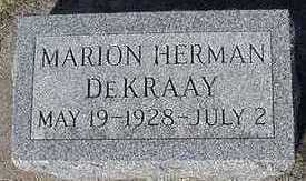 DEKRAAI, MARION HERMAN - Sioux County, Iowa | MARION HERMAN DEKRAAI