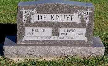 DEKRUYF, HENRY F. - Sioux County, Iowa   HENRY F. DEKRUYF