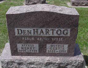 DENHARTOG, HENRY - Sioux County, Iowa   HENRY DENHARTOG