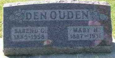 DENOUDEN, MARY H. (MRS. BAREND) - Sioux County, Iowa   MARY H. (MRS. BAREND) DENOUDEN