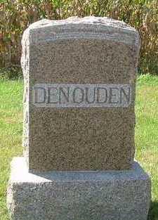 DENOUDEN, HEADSTONE - Sioux County, Iowa   HEADSTONE DENOUDEN