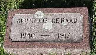 DERAAD, GERTRUDE - Sioux County, Iowa | GERTRUDE DERAAD