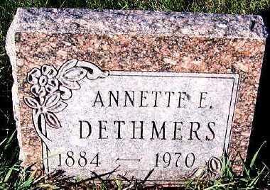 DETHMERS, ANNETTE E. - Sioux County, Iowa | ANNETTE E. DETHMERS