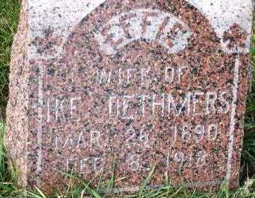 DETHMERS, EFFIE (MRS. IKE) - Sioux County, Iowa | EFFIE (MRS. IKE) DETHMERS