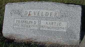 DEVELDER, FRANKLIN - Sioux County, Iowa | FRANKLIN DEVELDER
