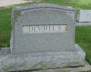 DEVRIES, HEADSTONE - Sioux County, Iowa | HEADSTONE DEVRIES