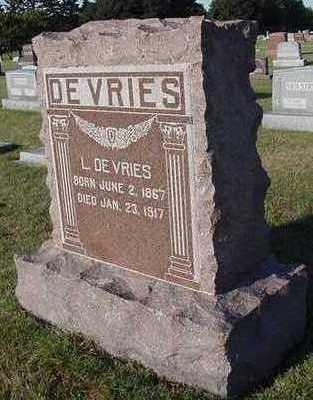 DEVRIES, L. - Sioux County, Iowa   L. DEVRIES