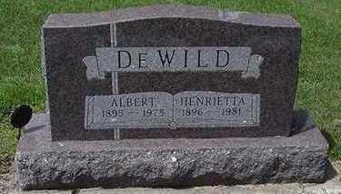 DEWILD, ALBERT - Sioux County, Iowa   ALBERT DEWILD