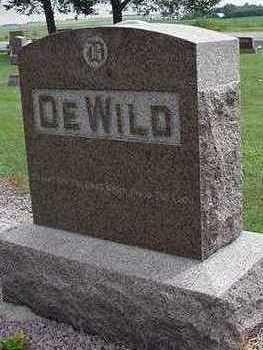 DEWILD, HEADSTONE - Sioux County, Iowa   HEADSTONE DEWILD