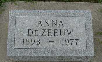 DEZEEUW, ANNA - Sioux County, Iowa   ANNA DEZEEUW