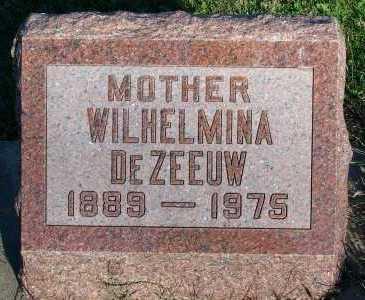 DEZEEUW, WILHELMINA - Sioux County, Iowa   WILHELMINA DEZEEUW