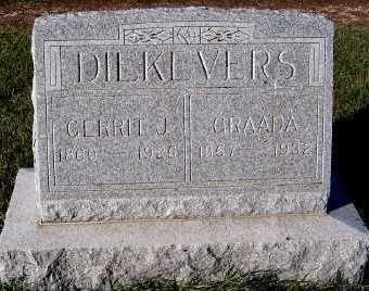 DIEKEVERS, GERRIT J. (1860-1925) - Sioux County, Iowa | GERRIT J. (1860-1925) DIEKEVERS