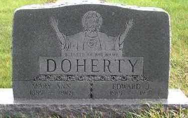 DOHERTY, EWARD J. (1885-1937) - Sioux County, Iowa | EWARD J. (1885-1937) DOHERTY
