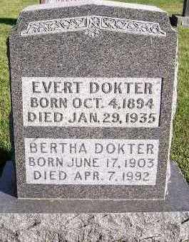 DOKTER, BERTHA - Sioux County, Iowa | BERTHA DOKTER