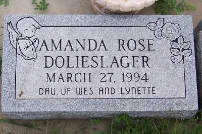 DOLIESLAGER, AMANDA ROSE - Sioux County, Iowa   AMANDA ROSE DOLIESLAGER