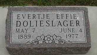 DOLIESLAGER, EVERTJE 'EFFIE' - Sioux County, Iowa | EVERTJE 'EFFIE' DOLIESLAGER