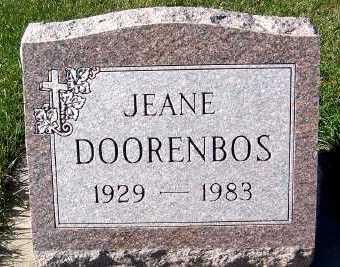DOORENBOS, JEANE - Sioux County, Iowa | JEANE DOORENBOS