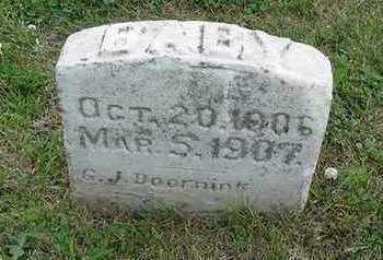 DOORNINK, BABY OF G. J. - Sioux County, Iowa | BABY OF G. J. DOORNINK