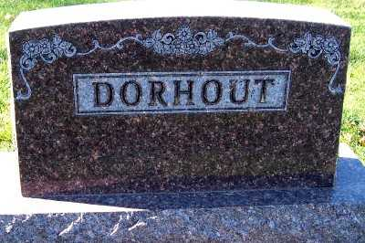 DORHOUT, HEADSTONE - Sioux County, Iowa | HEADSTONE DORHOUT