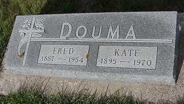 DOUMA, FRED - Sioux County, Iowa   FRED DOUMA