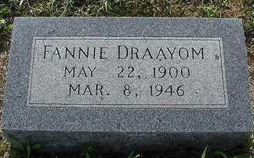 DRAAYOM, FANNIE - Sioux County, Iowa | FANNIE DRAAYOM
