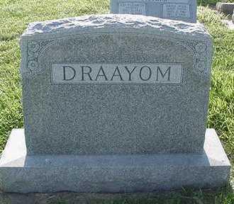 DRAAYOM, HEADSTONE - Sioux County, Iowa | HEADSTONE DRAAYOM