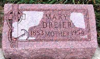 DREIER, MARY - Sioux County, Iowa | MARY DREIER