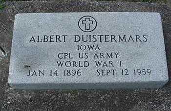 DUISTERMARS, ALBERT - Sioux County, Iowa   ALBERT DUISTERMARS