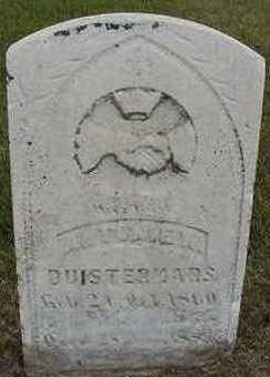 DUISTERMARS, ANTONIE W. - Sioux County, Iowa | ANTONIE W. DUISTERMARS
