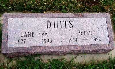 DUITS, PETER - Sioux County, Iowa | PETER DUITS