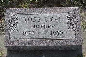 DYK, ROSE - Sioux County, Iowa   ROSE DYK