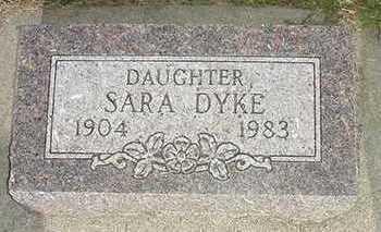 DYK, SARA - Sioux County, Iowa   SARA DYK