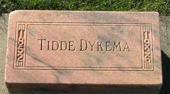 DYKEMA, TIDDE - Sioux County, Iowa | TIDDE DYKEMA