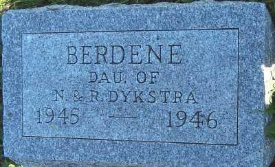 DYKSTRA, BERDENE (DAU OF N. & R.) - Sioux County, Iowa | BERDENE (DAU OF N. & R.) DYKSTRA