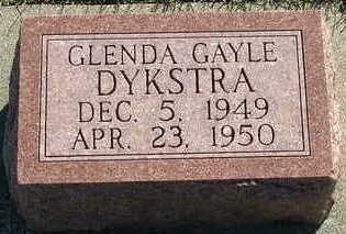 DYKSTRA, GLENDA GAYLE - Sioux County, Iowa | GLENDA GAYLE DYKSTRA