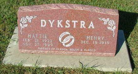 DYKSTRA, HATTIE (MRS. HENRY) - Sioux County, Iowa   HATTIE (MRS. HENRY) DYKSTRA