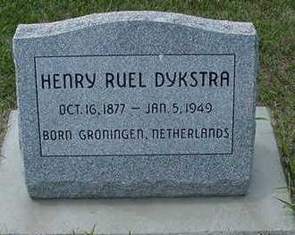 DYKSTRA, HENRY RUEL - Sioux County, Iowa | HENRY RUEL DYKSTRA