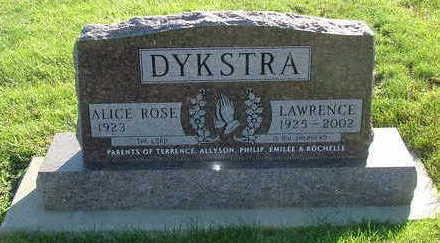 DYKSTRA, LAWRENCE - Sioux County, Iowa   LAWRENCE DYKSTRA