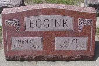 EGGINK, ALICE - Sioux County, Iowa | ALICE EGGINK