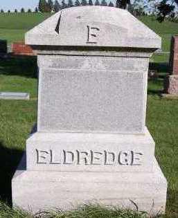 ELDREDGE, HEADSTONE - Sioux County, Iowa | HEADSTONE ELDREDGE