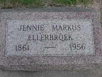 MARKUS ELLERBROEK, JENNIE - Sioux County, Iowa | JENNIE MARKUS ELLERBROEK